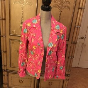 Johnny Was Pink Cotton Floral short jacket